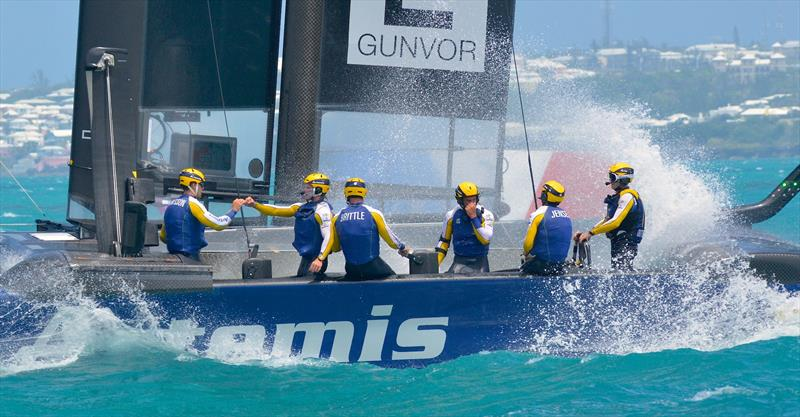 Artemis (SWE) were one of two crews who only had three sailing squad members who held a passport from the country of their club- 2017 America's Cup Bermuda - photo © Scott Stallard