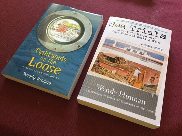 Books by writer and bluewater cruiser Wendy Hinman - photo © Wendy Hinman Collection