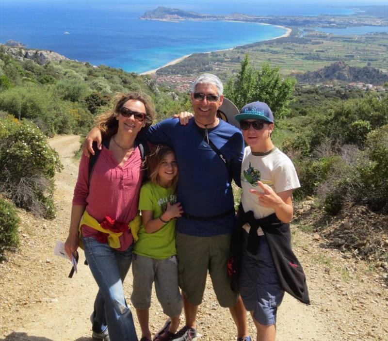 Bill Eisenhauer and Gabriela Hirt with their kids - photo © Bluewater Cruising Association
