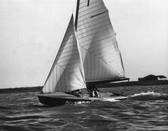 Coronet, sailed by the designer John Westell and the owner and sponsor of the project, Max Johnson. After the IYRU Trials at La Baule, the Coronet would lose some waterline length and re-emerge as the 505 (because the IYR didn't like the name 'Coronet'!) - photo © Westell Family