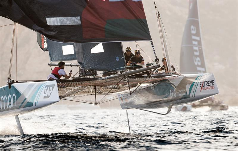 2017 Extreme Sailing Series™ - Despite a commendable effort in the two opening races, Oman Air was unable to catch its adversary Alinghi and finished second for the Act and third for the season. - photo © Lloyd Images