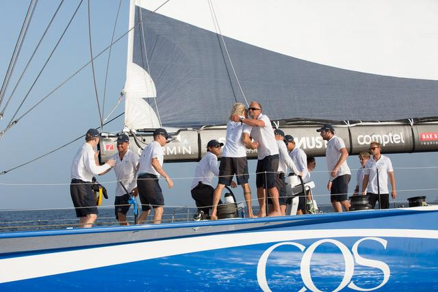 Ludde Ingvall's Maxi CQS takes line honour in the RORC Transatlantic Race - photo © RORC