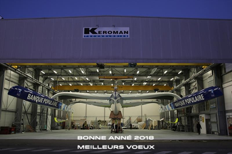 Maxi Banque Populaire IX at the Keroman Technologies - photo © CDK Technologies