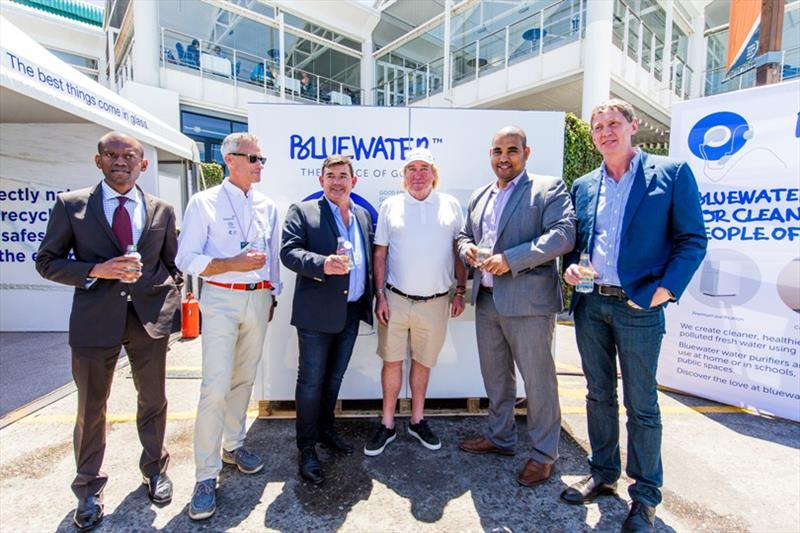 Cape Town stopover. Opening day. Mr. David Green, CEO, V&A Waterfront, Eddie Andrews, Mayor's Area Representative City of Cape Town and Bruce Parker Forsyth, CEO, WorldSport, David Noble, Head of International PR and Communication BlueWater. 24 Nov 2017 - photo © Pedro Martinez / Volvo Ocean Race