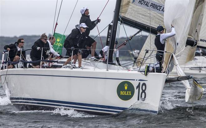 Royal Prince Alfred YC (AUS) team hoisting the spinnaker  - New York Yacht Club Invitational Cup presented by Rolex ©  Rolex/Daniel Forster http://www.regattanews.com