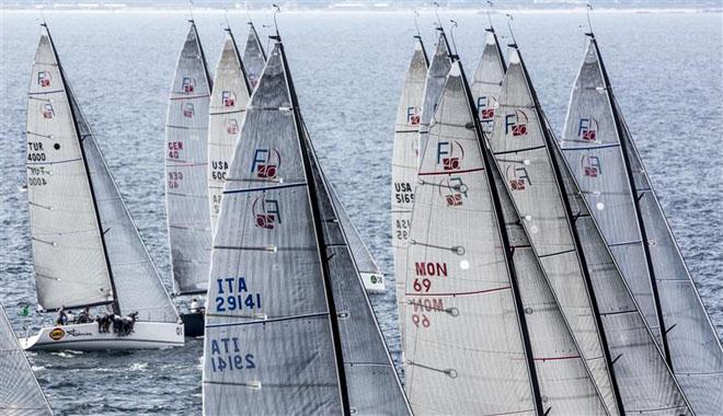 A grey first day of racing for the fleet of the Rolex Farr 40 World Championship 2013 ©  Rolex/Daniel Forster http://www.regattanews.com