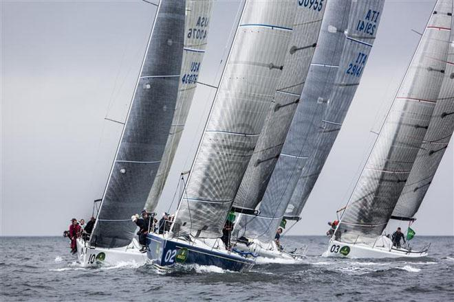 BARKING MAD (USA) leading the fleet to the weather mark ©  Rolex/Daniel Forster http://www.regattanews.com