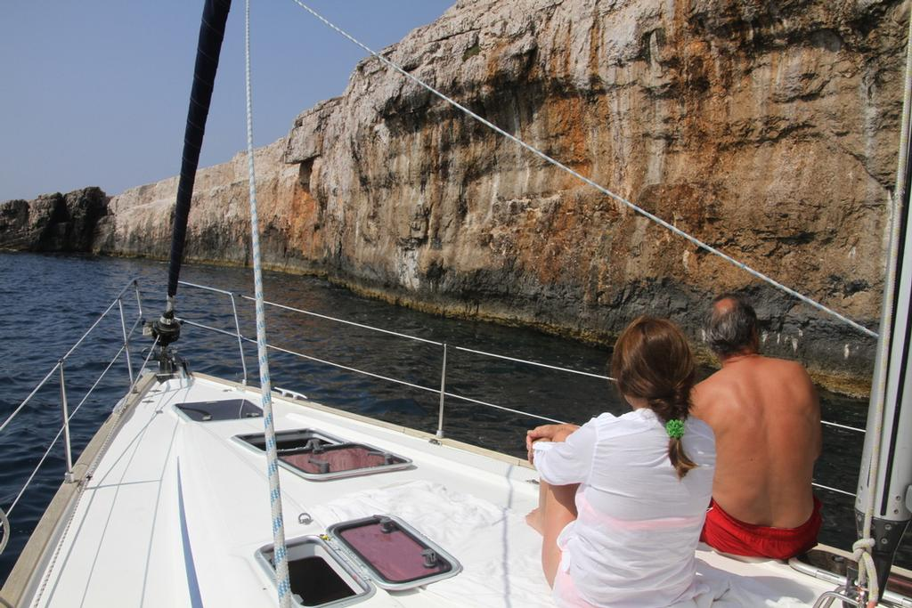 Water clarity and depth within a metre of the cliffs - Croatia Kornati Yacht Rally © Trevor Joyce http://marinerboating.com.au