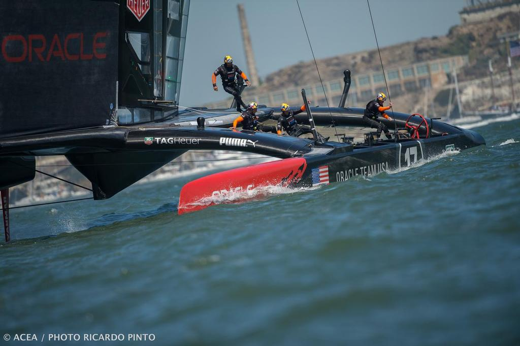 34th America's Cup - Final Match - Race Day 1 at  San Francisco (USA,CA) © ACEA / Ricardo Pinto http://photo.americascup.com/
