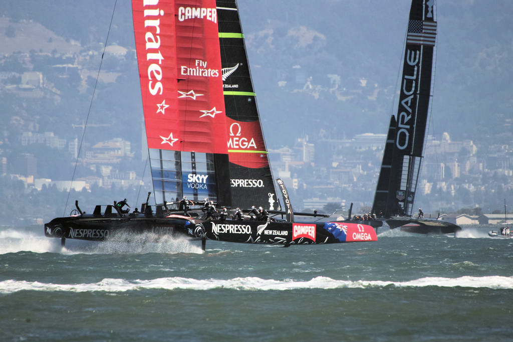 Place your bets, ladies and gentlemen, this AC will be dramatic.  - America's Cup © Chuck Lantz http://www.ChuckLantz.com