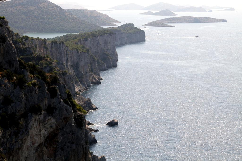 The cliffs (Strmi) in the National Park in Dugi Otok, Kornati - Croatia Kornati Yacht Rally © Trevor Joyce http://marinerboating.com.au