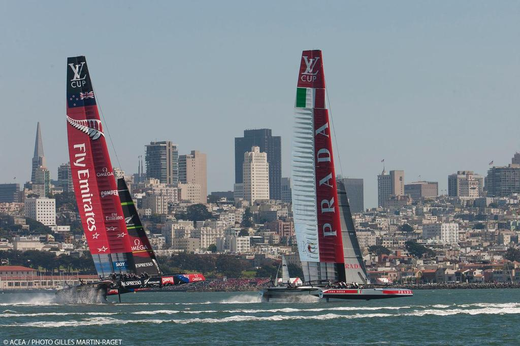 Emirates Team NZ and Luna Rossa - Louis Vuitton Cup Final, Day 4 © ACEA - Photo Gilles Martin-Raget http://photo.americascup.com/