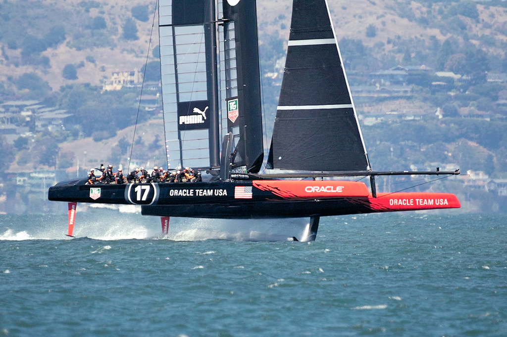 Oracle back on their feet and flying.  - America's Cup © Chuck Lantz http://www.ChuckLantz.com