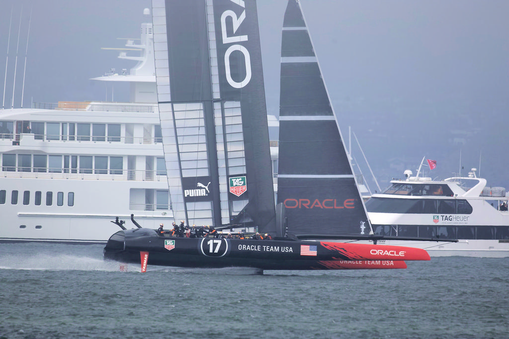 Oracle in action on the Bay - 34th America's Cup © Chuck Lantz http://www.ChuckLantz.com