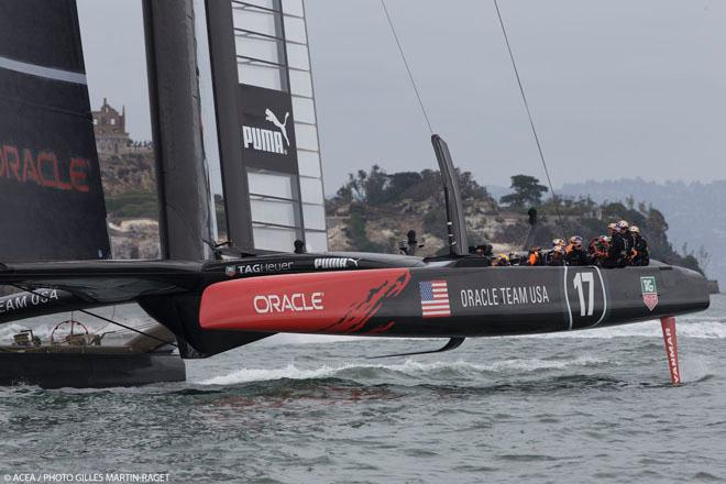 11/09/2013 - San Francisco (USA,CA) - 34th America's Cup - Final Match - Lay day n° 2 - ORACLE Team USA training © ACEA - Photo Gilles Martin-Raget http://photo.americascup.com/