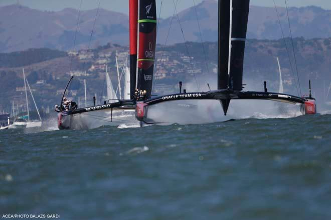 ORACLE Team USA vs Emirates Team New Zealand, Race Day 6 ©  ACEA / Photo Balazs Gardi http://www.americascup.com/