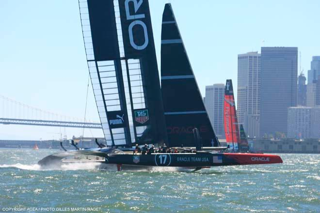 ORACLE Team USA vs Emirates Team New Zealand, Race Day 6 © ACEA - Photo Gilles Martin-Raget http://photo.americascup.com/