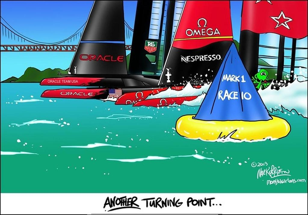 Another Turning Point - America's Cup, Day 6, Race 10 © Monsta http://www.monsta.co.nz