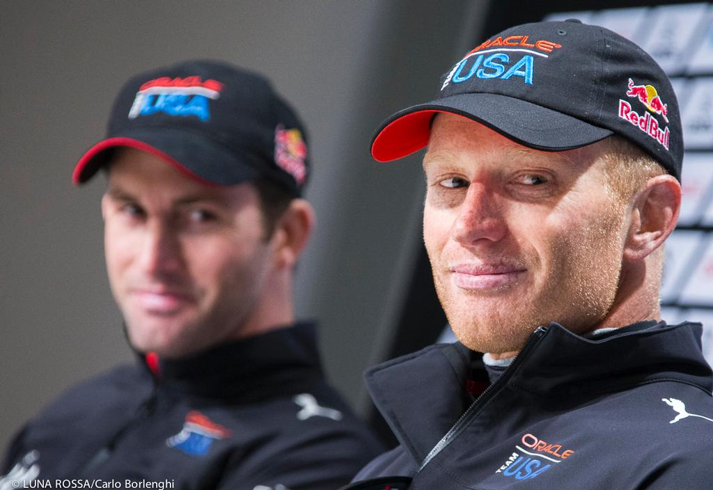 Oracle Team USA  Skipper James Spithill and Ben Ainslie - the chemistry worked © Carlo Borlenghi/Luna Rossa http://www.lunarossachallenge.com