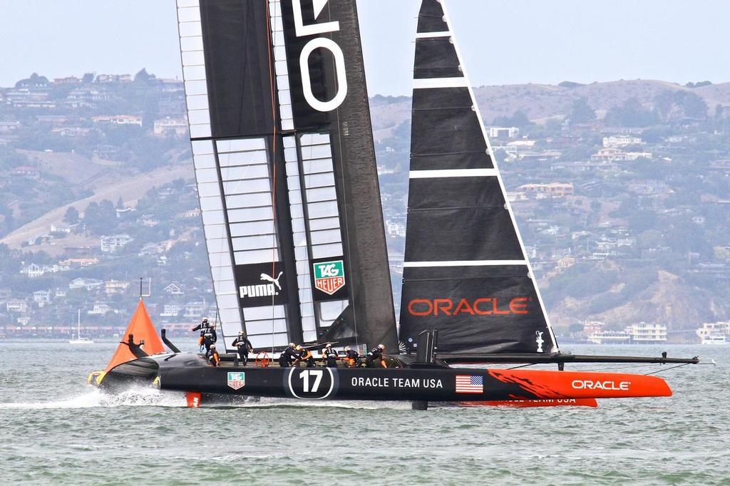 Oracle Team USA sailing with Ben Ainslie (GBR) in the tactician's role © Richard Gladwell www.photosport.co.nz