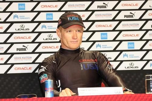 Oracle Team USA v Emirates Team New Zealand. America's Cup Day 8 San Francisco. Oracle Team USA skipper Jimmy Spithill at the Day 8 Media Conference © Richard Gladwell www.photosport.co.nz