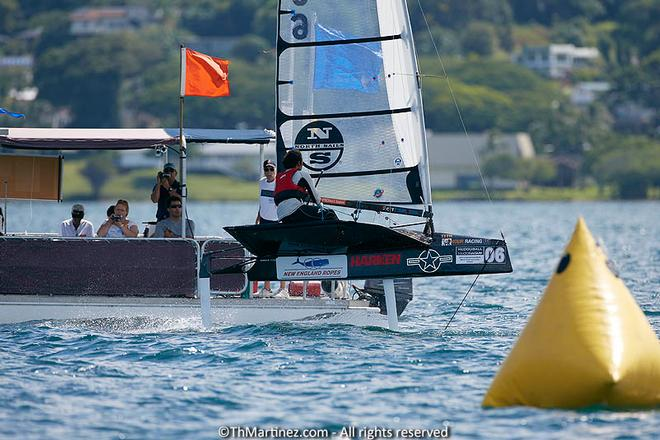 2013 Moth Worlds teams in action, Day 3. © Thierry Martinez/International Moth Class http://www.moth-sailing.org