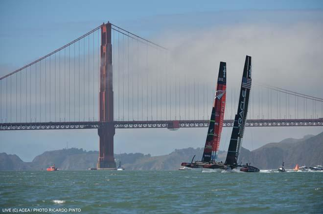 22/09/2013 - San Francisco (USA,CA) - 34th America's Cup - OracleTeam USA vs Emirates Team New Zealand, Race Day 12 © ACEA / Ricardo Pinto http://photo.americascup.com/