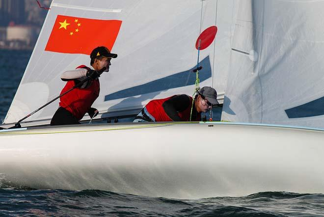 Hao Lan Chao Wang CHN Men's 470 - 2013 ISAF Sailing World Cup Qingdao Day 4 © ISAF