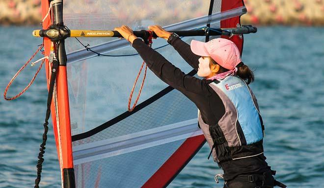 Hard Work Women's RS-X - 2013 ISAF Sailing World Cup Qingdao Day 4 © ISAF