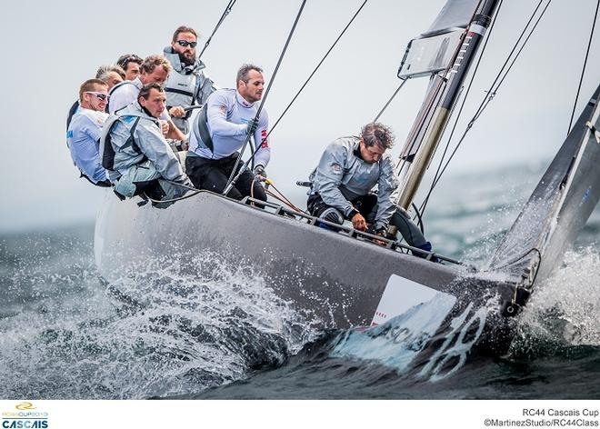 Vladimir Liubomirov at the helm of Bronenosec in RC44 Cascais Cup © MartinezStudio.es