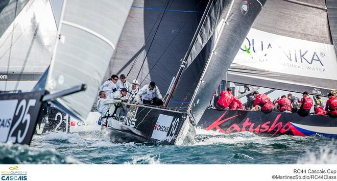 Aegir Racing battle upwind at the RC44 Cascais Cup © MartinezStudio.es