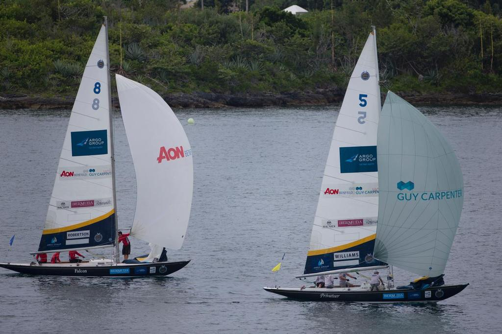 GAC Pindar and WAKA Racing at the Argo Group Gold Cup, Bermuda, part of the Alpari World Match Racing Tour.<br /> <br />  &copy; onEdition http://www.onEdition.com