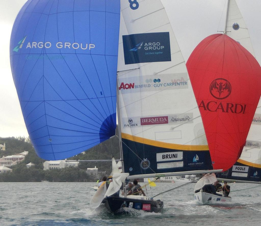 Bruni defeated newcomer Poole in the Group 1, stage 1 Qualifying round-robin at the 2013 Argo Group Gold Cup, Stage 5 of the Alpari World Match Racing Tour, in Hamilton BERMUDA.  ©  Talbot Wilson / Argo Group Gold Cup http://www.argogroupgoldcup.com/