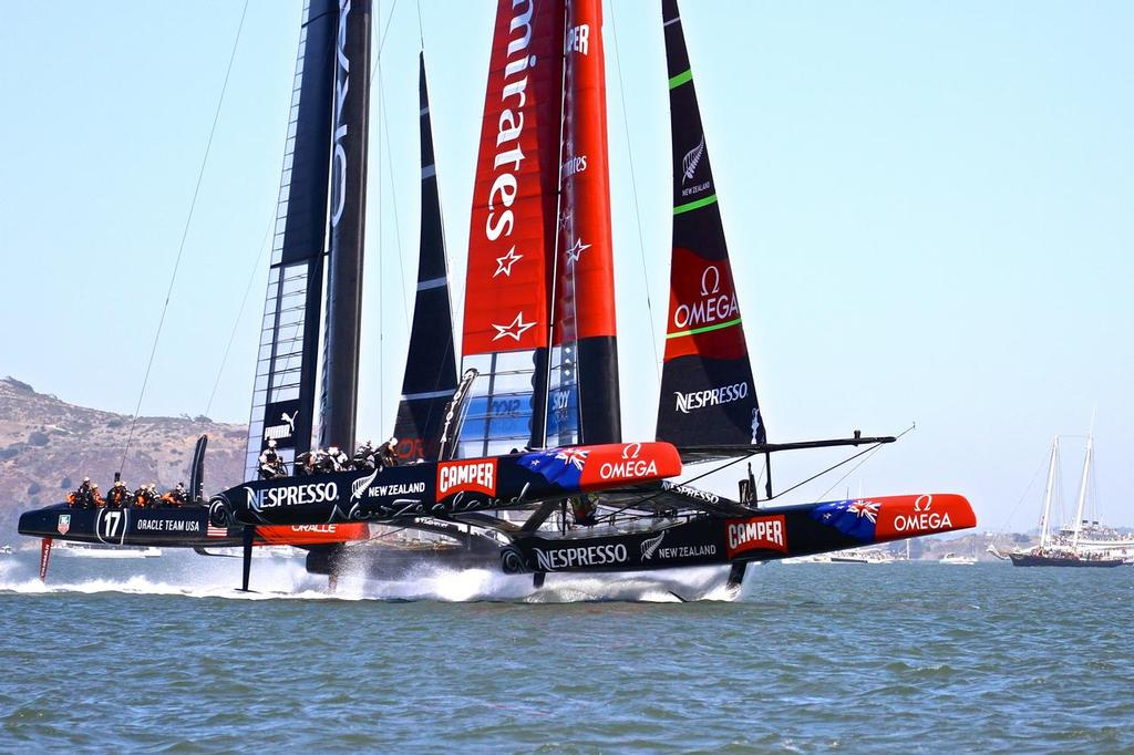 Emirates Team NZ, Leg 1, Race 1 34th America's Cup September 7, 2013 © Richard Gladwell www.photosport.co.nz