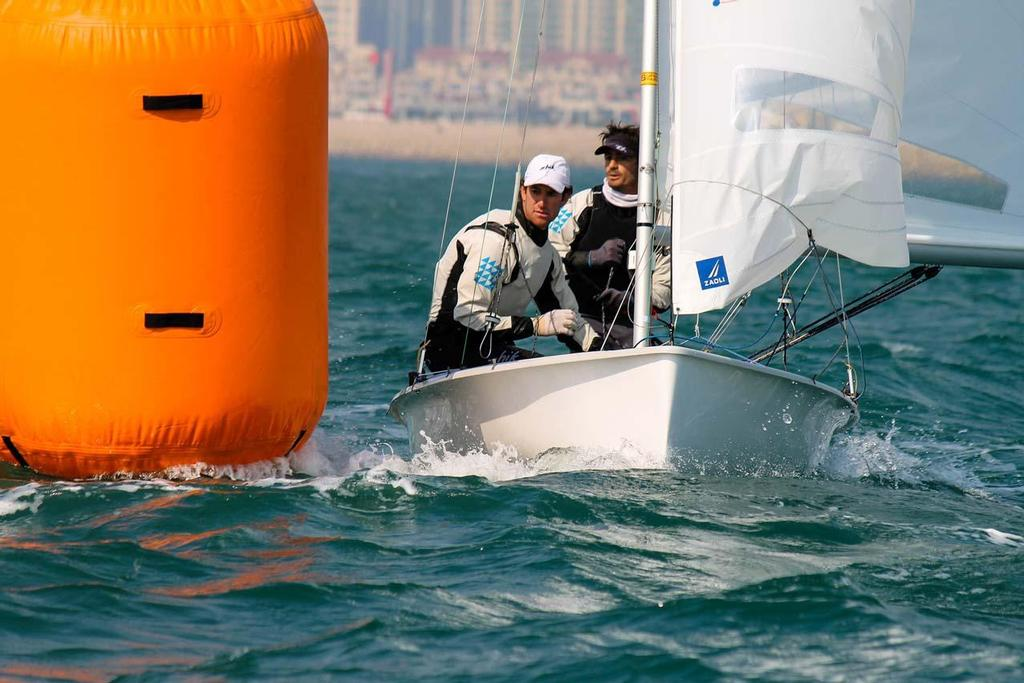 Lucas Calabrese and Juan de la Fuente - 2013 ISAF Sailing World Cup Qingdao Day 3 © ISAF