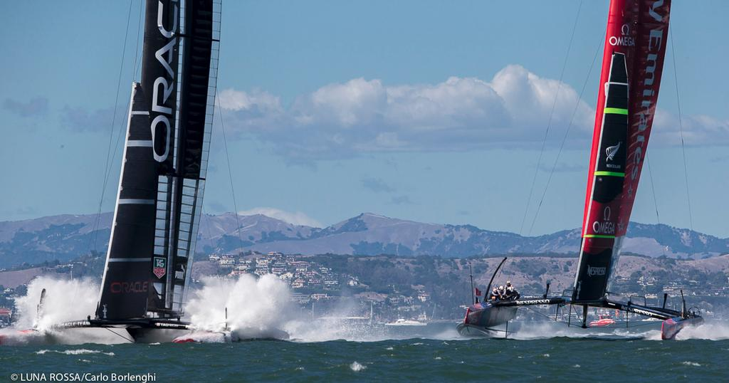San Francisco<br /> 34th AMERICA&rsquo;S CUP<br /> America&rsquo;s Cup final<br /> Oracle Team USA vs Emirates Team New Zealand<br />  &copy; Carlo Borlenghi/Luna Rossa http://www.lunarossachallenge.com