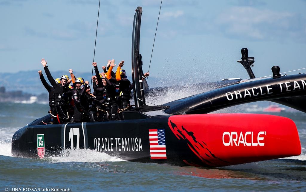 San Francisco<br /> 34th AMERICA&rsquo;S CUP<br /> America&rsquo;s Cup final<br /> Oracle Team USA wins the 34th America&rsquo;s Cup<br />  &copy; Carlo Borlenghi/Luna Rossa http://www.lunarossachallenge.com