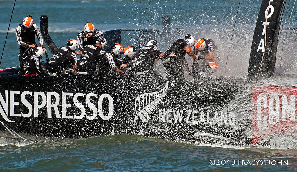 ENTZ on Day 13, America's Cup 2013 © Tracy St John http://www.stjohnphoto.tv/