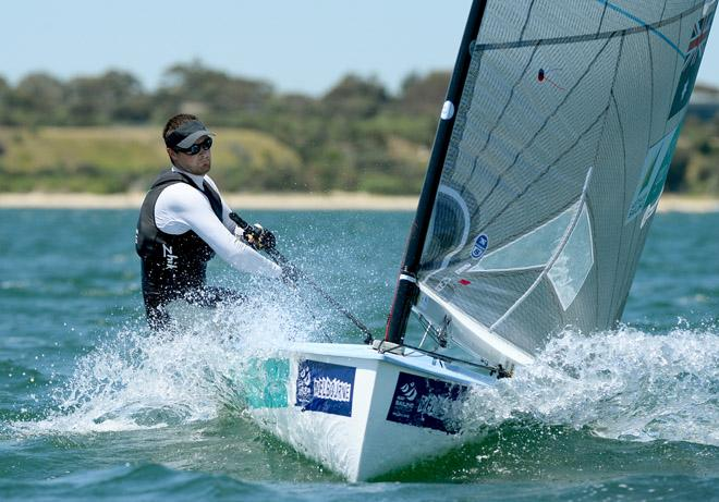 Oliver Tweddell (AUS) in 2013 ISAF Sailing World Cup - Melbourne © Jeff Crow/ Sport the Library http://www.sportlibrary.com.au