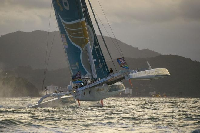 Oman Air-Musandam in action at the 2013 Transat Jacques Vabre in Itajai, Brazil © Vincent Curutchet / DPPI