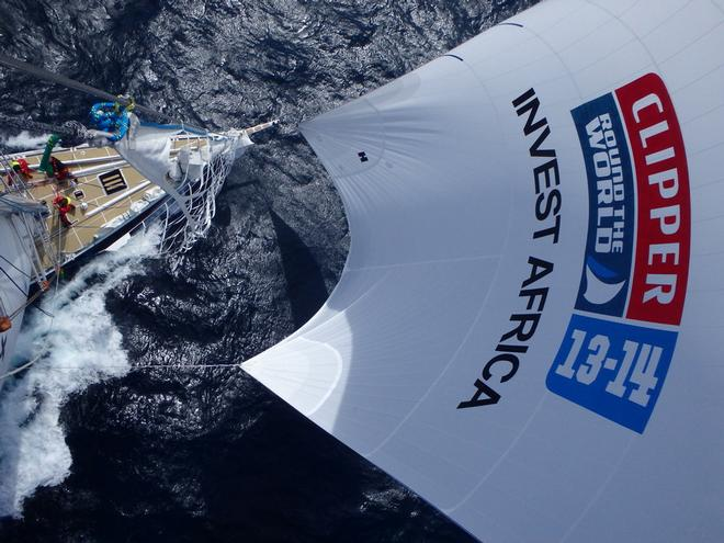 Invest Africa crew in the Clipper Round the World Yacht Race. © Clipper Ventures PLC . http://www.clipperroundtheworld.com