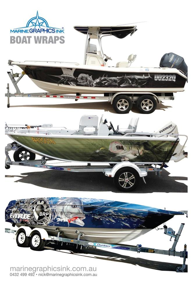 Wrap yourself up in marine graphics ink s latest designs for Fishing boat wraps