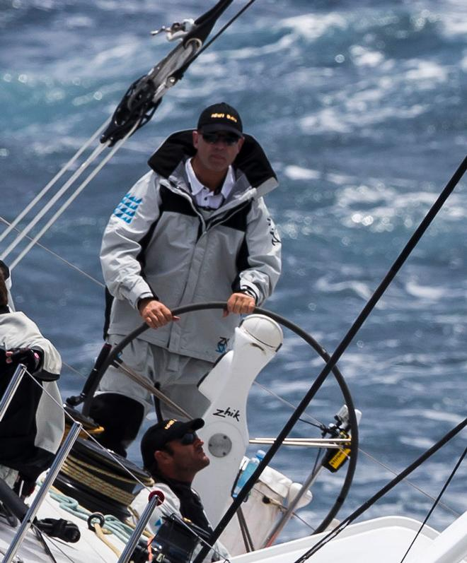 Newly elected Yachting Australia President Matt Allen at the helm of Ichiban. ©  Rolex / Carlo Borlenghi http://www.carloborlenghi.net