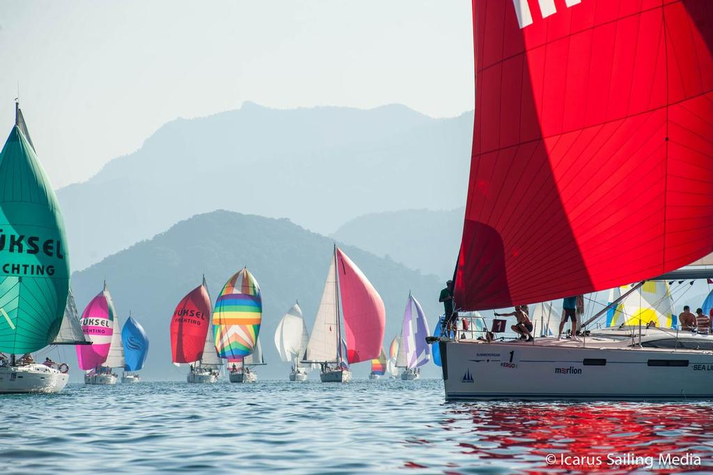 24th Marmaris International Race Week 2013 fleet in action. ©  Icarus Sailing Media http://www.icarussailingmedia.com/