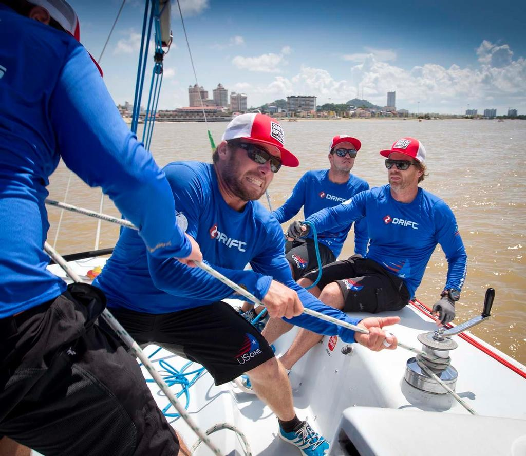 USone at the Monsoon Cup Cup, Malaysia, the final round of the Alpari World Match Racing Tour. <br />  &copy; onEdition http://www.onEdition.com