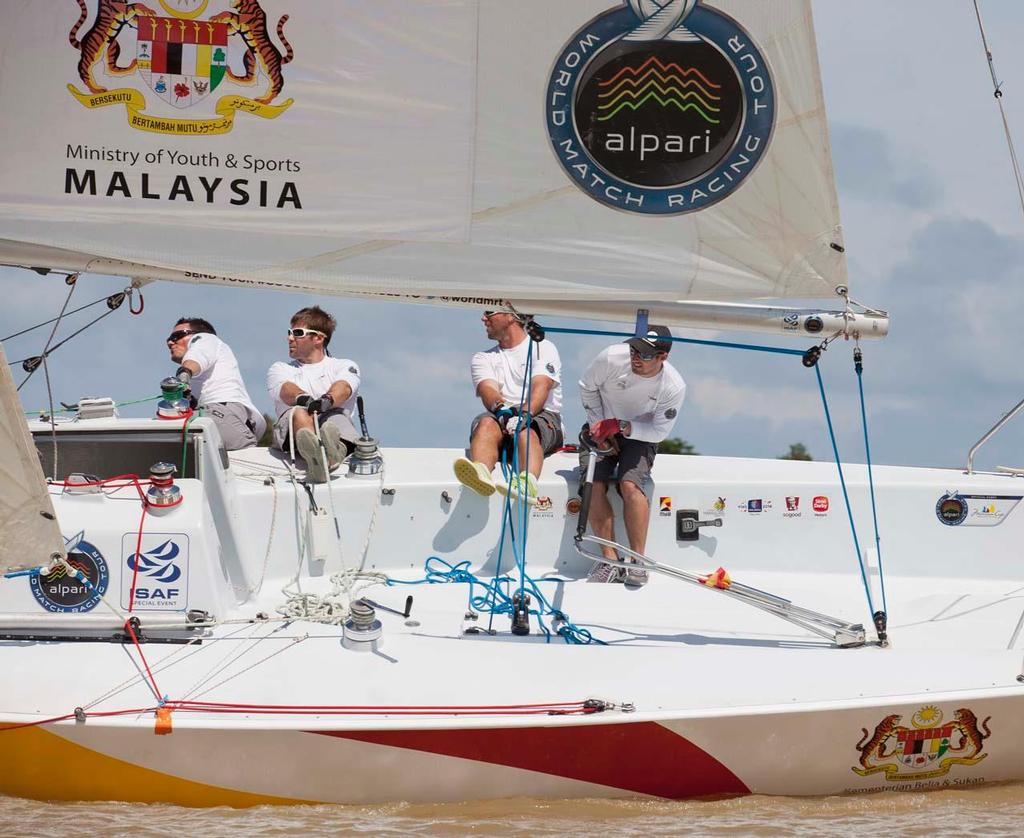 Vannes Agglo Sailing Team at the Monsoon Cup Cup, Malaysia, the final round of the Alpari World Match Racing Tour. © onEdition http://www.onEdition.com