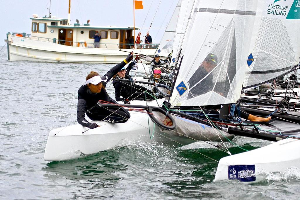 ISAF Sailing World Cup, Melbourne Day 2 - Nacra 17's get off to a closely contested start © Richard Gladwell www.photosport.co.nz