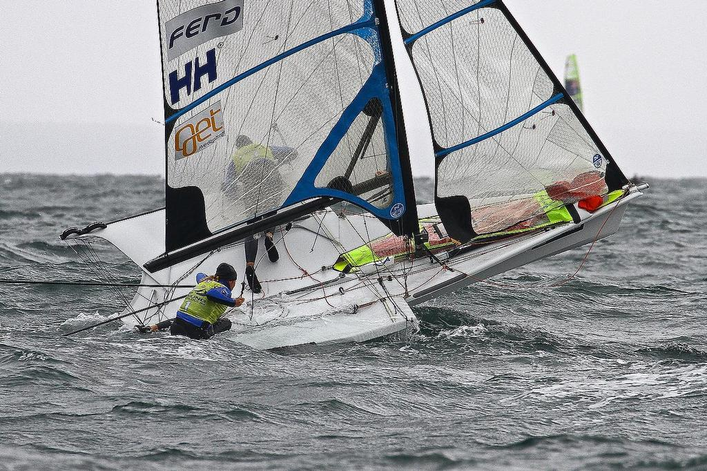 ISAF Sailing World Cup, Melbourne Day 3 - 49erFX (NOR) © Richard Gladwell www.photosport.co.nz
