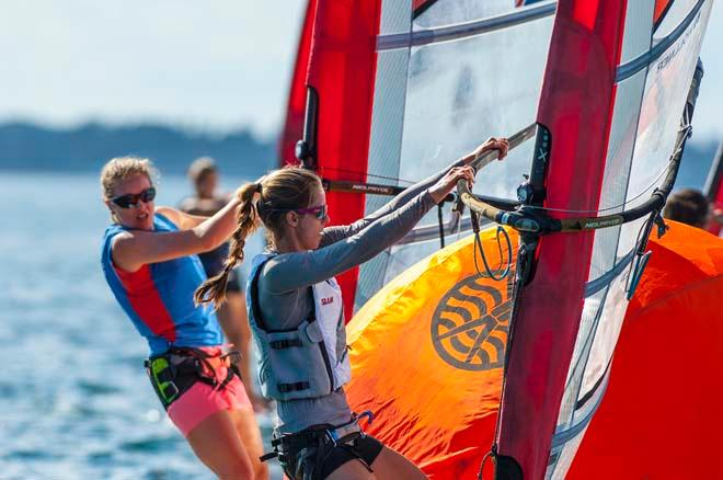 ISAF Sailing World Cup Miami 2014 - Day 1 Women's RS:X © Walter Cooper /US Sailing http://ussailing.org/
