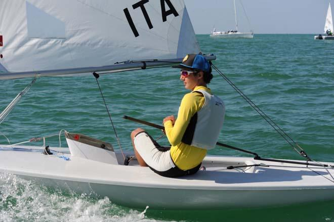 Italy's Gianmarco Planchestainer maintains lead ©  Munther Al Zadjali http://omanlaserworlds2013.com/